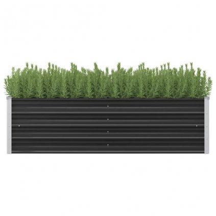 Zahradní truhlík Logan - pozinkovaná ocel | 160 x 40 x 45 cm | antracitový