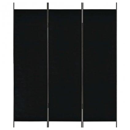 3-dílný paraván - černý   150x180 cm