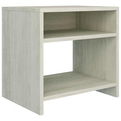 Noční stolek - dřevotříska - betonově šedý | 40x30x40 cm