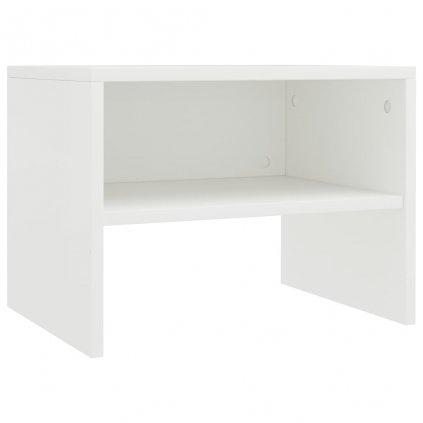 Noční stolek - dřevotříska - bílý | 40x30x30 cm