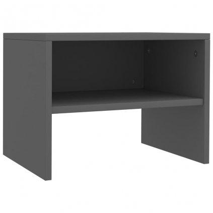 Noční stolek - dřevotříska - šedý | 40x30x30 cm