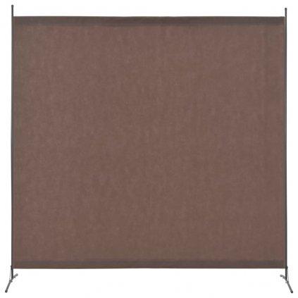 1-dílný paraván - hnědý | 175x180 cm