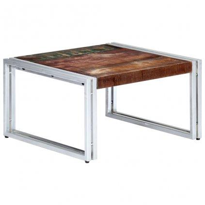 Konferenční stolek - masivní recyklované dřevo | 60x60x35 cm