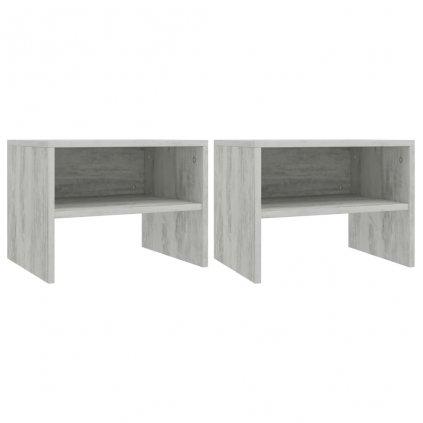 Noční stolky 2 ks - dřevotříska - betonově šedé | 40x30x30 cm