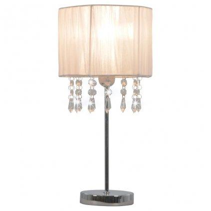 Stolní lampa Avondale - kulatá - bílá | E27