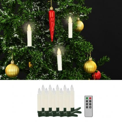 Bezdrátové LED svíčky s dálkovým ovládáním - 10 ks | teplé bílé