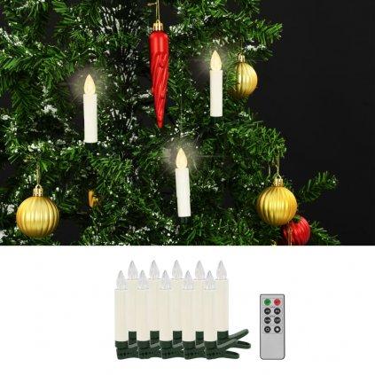 Bezdrátové LED svíčky s dálkovým ovládáním - 10 ks   teplé bílé