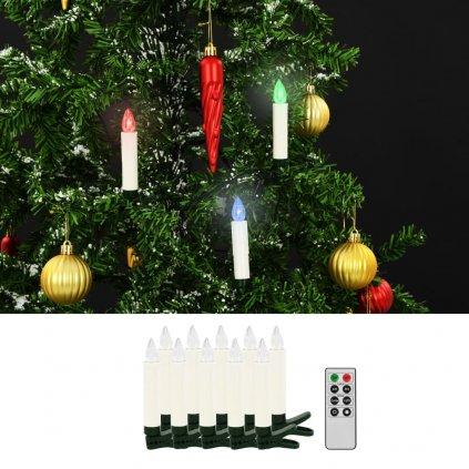 Bezdrátové LED svíčky s dálkovým ovládáním - 10 ks   barevné
