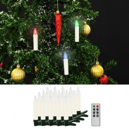 Bezdrátové LED svíčky s dálkovým ovládáním - 20 ks | barevné