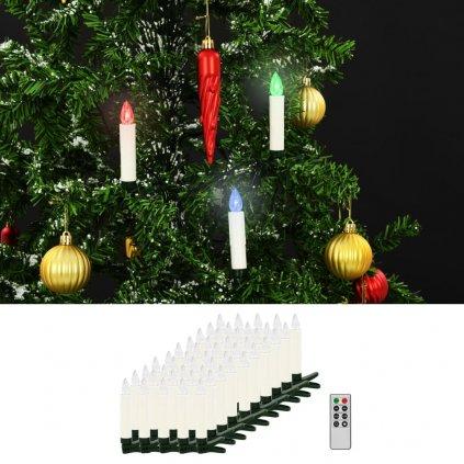 Bezdrátové LED svíčky s dálkovým ovládáním - 50 ks | barevné
