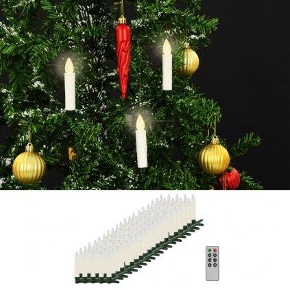 Bezdrátové LED svíčky s dálkovým ovládáním - 100 ks | teplé bílé