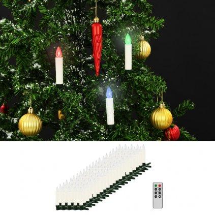 Bezdrátové LED svíčky s dálkovým ovládáním - 100 ks | barevné