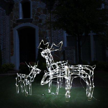 3dílná vánoční světelná dekorace - sobi | 229 LED diod