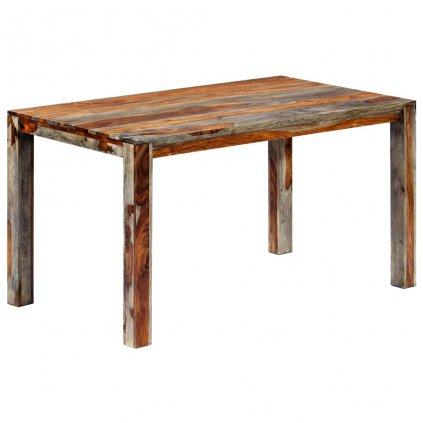 Jídelní stůl - masivní sheeshamové dřevo - šedý   140x70x76 cm