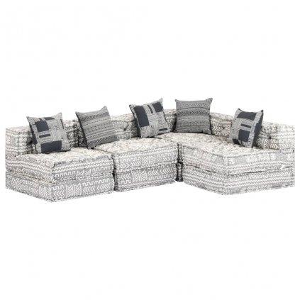 4-místná rozkládací pohovka Broulee - textil | šedá