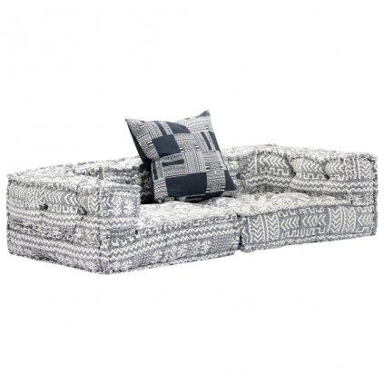 2-místná modulární rozkládací pohovka Broulee - textil | šedá