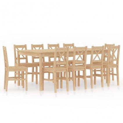 11dílný jídelní set | borové dřevo