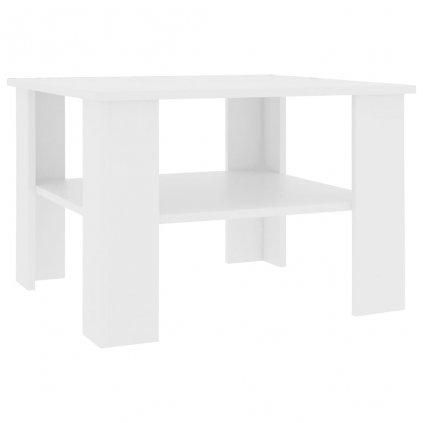 Konferenční stolek Awake - dřevotříska - bílý | 60x60x42 cm