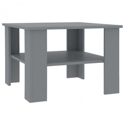 Konferenční stolek Awake - šedý -dřevotříska | 60x60x42 cm