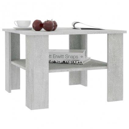 Konferenční stolek Awake - 60 x 60 x 42 cm | betonově šedý