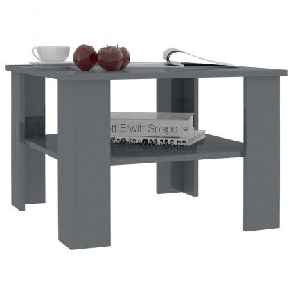 Konferenční stolek Awake - šedý vysoký lesk | 60x60x42 cm