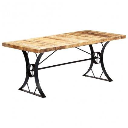 Jídelní stůl - masivní mangovníkové dřevo   180x90x76 cm