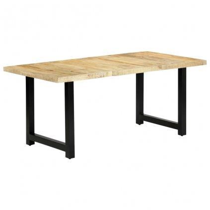 Jídelní stůl Davis - masivní mangovníkové dřevo   180x90x76 cm   světle hnědá / černá
