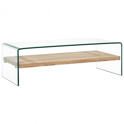 Konferenční stolek - čirý -tvrzené sklo   98x45x31 cm