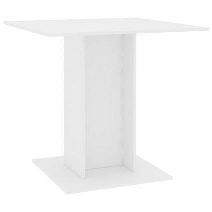 Jídelní stůl Kenni - bílý - dřevotříska | 80x80x75 cm
