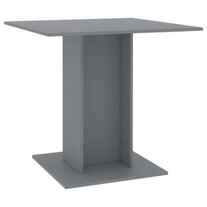 Jídelní stůl Kenni - šedý - dřevotříska | 80x80x75 cm