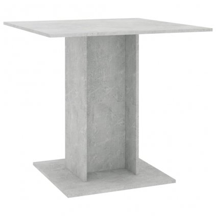 Jídelní stůl Kemmi - betonově šedý - dřevotříska | 80x80x75 cm