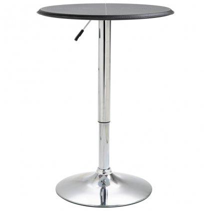 Barový stůl Kloof - MDF - O 60 cm | černý