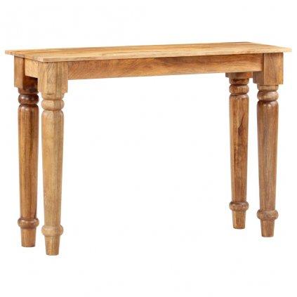 Konzolový stolek Gracewolf - masivní magovníkové dřevo | 110x35x77 cm