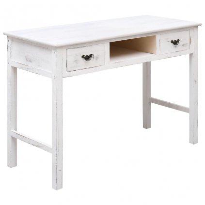 Konzolový stolek Gayle - dřevo - bílý s patinou | 110x45x76 cm