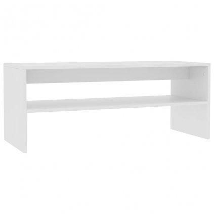 Konferenční stolek - dřevotříska - bílý | 100x40x40 cm