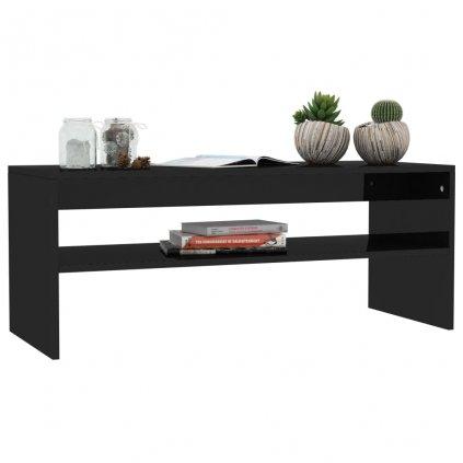Konferenční stolek Christop - černý vysoký lesk | 100x40x40 cm