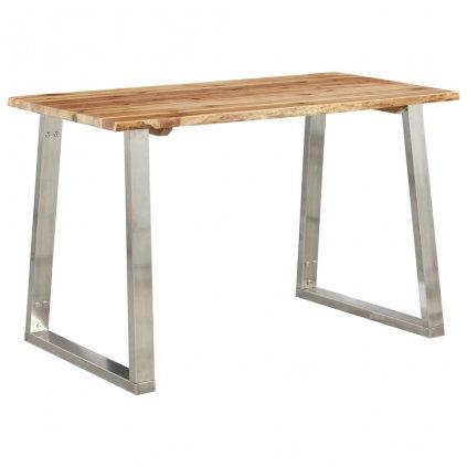 Jídelní stůl Howick - masivní akácie a nerezová ocel | 120 x 65 x 75 cm