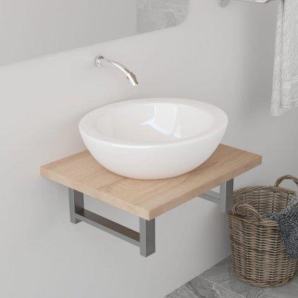 Deska pod umyvadlo - včetně konzole - dub | 40x40x16,3 cm