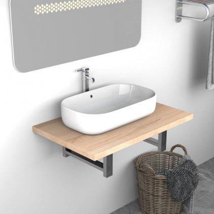 Deska pod umyvadlo - včetně konzole - dub | 60x40x16,3 cm