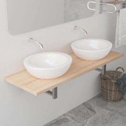 Deska pod umyvadlo  - včetně konzole - dub | 120x40x16,3 cm