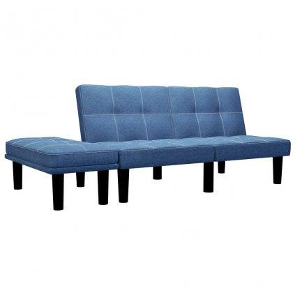 Pohovka Butler - 2místná - textil | modrá