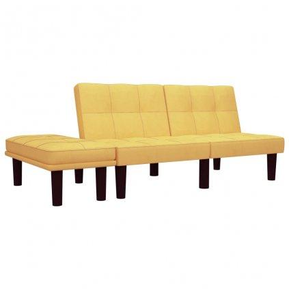 Pohovka Butler - 2místná - textil | žlutá