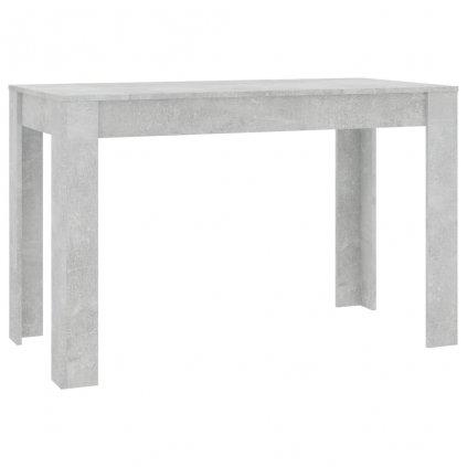 Jídelní stůl Arttita - betonově šedý - dřevotříska | 120x60x76 cm