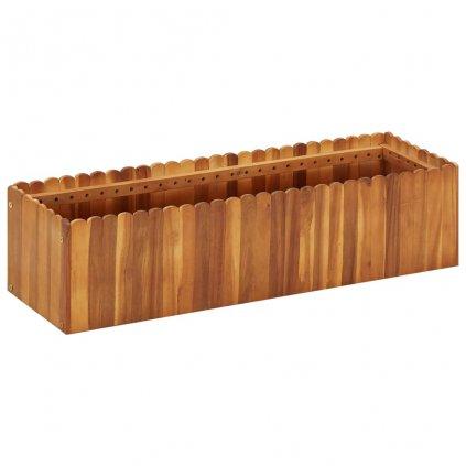 Zahradní truhlík Bunny - masivní akáciové dřevo | 100 x 30 x 25 cm