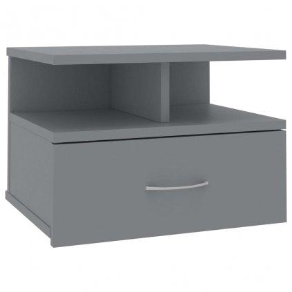Nástěnný noční stolek Stella - šedý | 40x31x27 cm