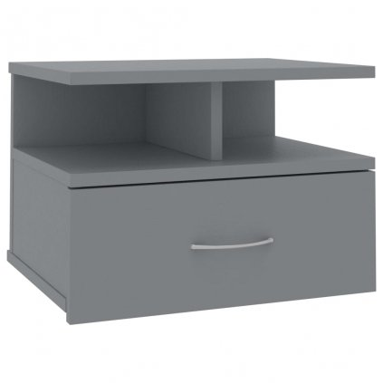 Nástěnný noční stolek Stella - šedý   40x31x27 cm