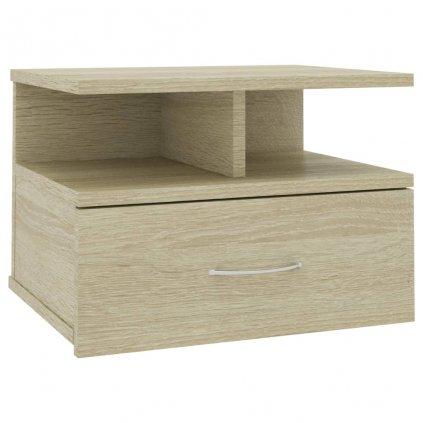 Nástěnný noční stolek Stella - dub sonoma | 40x31x27 cm