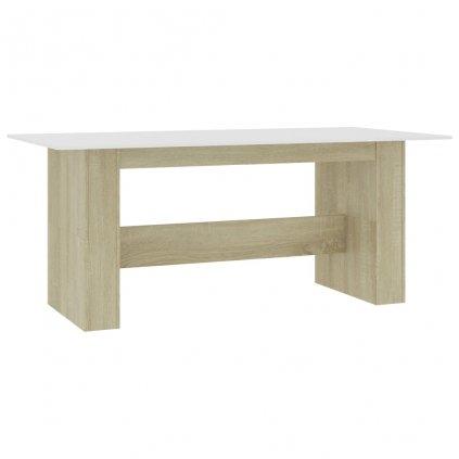 Jídelní stůl Tinnie - bílý dub sonoma - dřevotříska | 180x90x76 cm