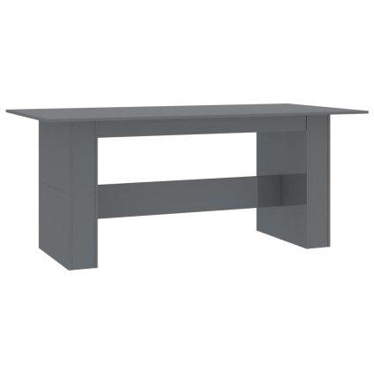 Jídelní stůl Tinnie - šedý s vysokým leskem - dřevotříska | 180x90x76 cm