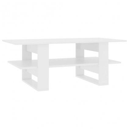 Konferenční stolek - dřevotříska - bílý   110x55x42 cm